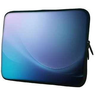 Snoogg Abstract Blue Pattern Design 10.2 Inch Soft Laptop Sleeve