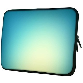 Snoogg Lite Blue Background 10.2 Inch Soft Laptop Sleeve