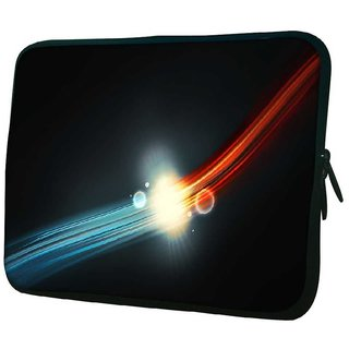 Snoogg Glowing Red And Blue Design 10.2 Inch Soft Laptop Sleeve