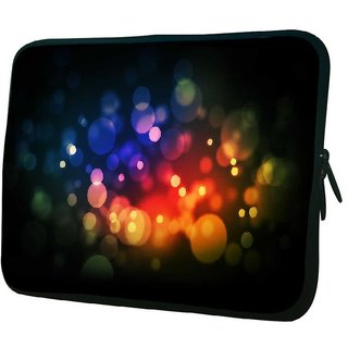 Snoogg Red And Blue Spots 10.2 Inch Soft Laptop Sleeve
