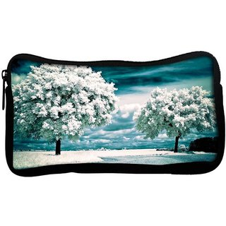 Snoogg White Frozen Trees Poly Canvas  Multi Utility Travel Pouch