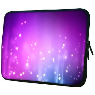Snoogg Purple Background Pattern Design 10.2 Inch Soft Laptop Sleeve