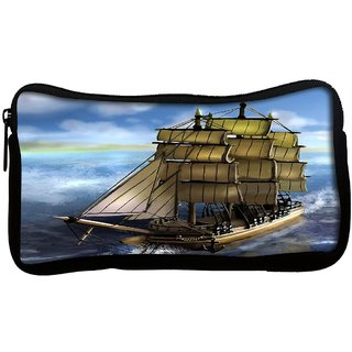 Snoogg  Sailor'S Delight Poly Canvas Multi Utility Travel Pouch
