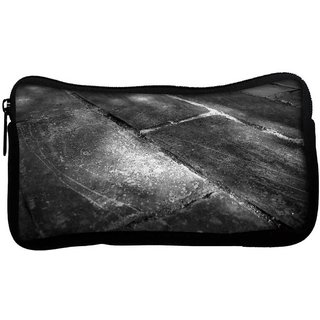 Snoogg Black Floor Poly Canvas  Multi Utility Travel Pouch