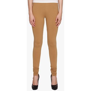 Women's Drak Brown Fine Size Cotton Lycra Leggings