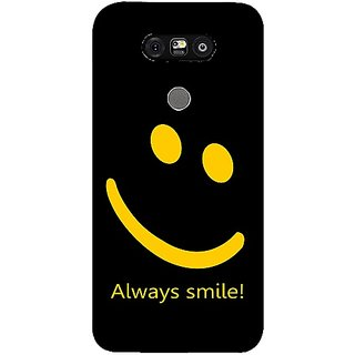 Casotec Happy Quote Design 3D Printed Back Case Cover for LG G5