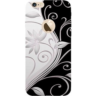 Casotec Black And White Design 3D Printed Back Case Cover for Apple iPhone 6 / 6S