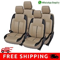 Hi Art Beige and Black Leatherite Custom Fit Seat Covers for Maruti New Swift Dzire
