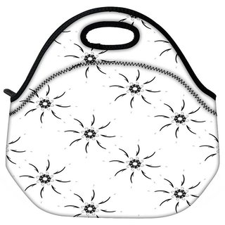 Snoogg Sparkling Sun Grey Travel Outdoor CTote Lunch Bag