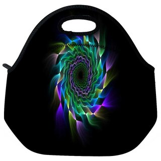 Snoogg Vortex Abstract Travel Outdoor Tote Lunch Bag
