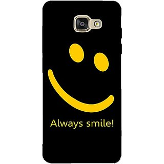 Casotec Happy Quote Design 3D Printed Back Case Cover for Samsung Galaxy A5 (2016)