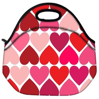 Snoogg Opposite Hearts Travel Outdoor CTote Lunch Bag