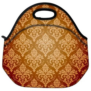 Snoogg Abstract Cream Pattern Travel Outdoor CTote Lunch Bag