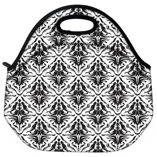 Snoogg Abstract Pattern Brown Travel Outdoor CTote Lunch Bag