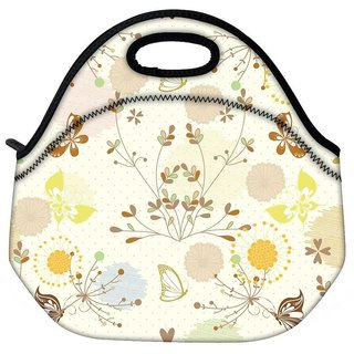 Snoogg Flying Butterflies Travel Outdoor CTote Lunch Bag