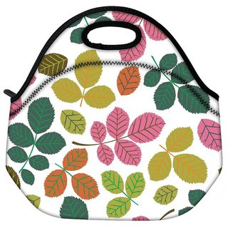 Snoogg Colorful Branches Travel Outdoor CTote Lunch Bag