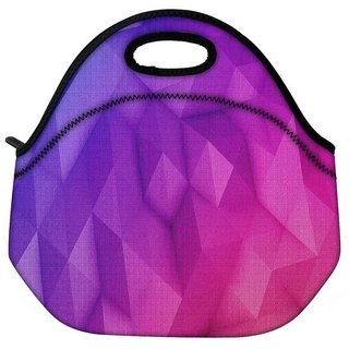 Snoogg Abstract Purple Pattern Travel Outdoor Tote Lunch Bag