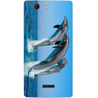 Casotec Dolphins Jump Water Design 3D Printed Back Case Cover for Micromax Canvas Nitro 2 E311