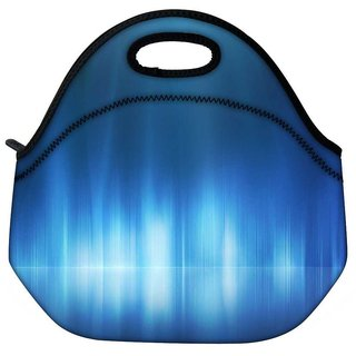 Snoogg Light Blue Design Travel Outdoor Tote Lunch Bag
