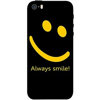 Casotec Happy Quote Design 3D Printed Back Case Cover for Apple iPhone SE