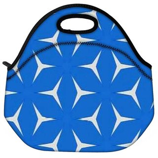 Snoogg Blue Pattern Travel Outdoor CTote Lunch Bag