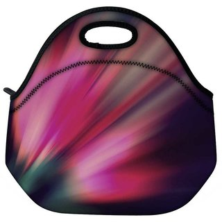 Snoogg Abstract Pink Rays Travel Outdoor Tote Lunch Bag