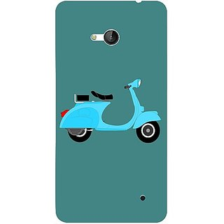 Casotec Scooter Design 3D Printed Back Case Cover for Microsoft Lumia 640