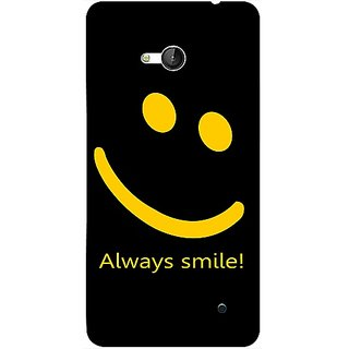 Casotec Happy Quote Design 3D Printed Back Case Cover for Microsoft Lumia 640