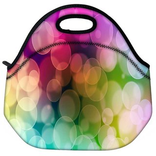 Snoogg Lite Color Bubbles Travel Outdoor Tote Lunch Bag