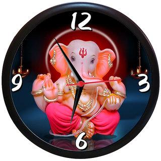 Sky Trends Diwali Gift Beautiful Bal Ganesh Ji  Wall Clock Analog  (Multicolour, With Frame) Unique Gifts 9 inc