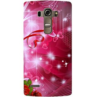 Casotec Love Design 3D Printed Back Case Cover for LG G4 Stylus