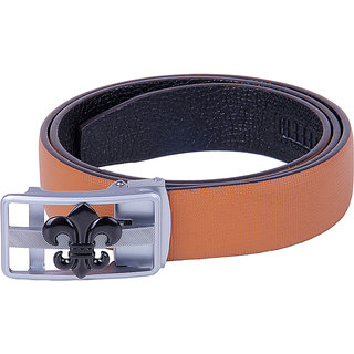 BLACK BUCK Boys, Men Brown Genuine Leather Belt  (LIGHT BROWN)