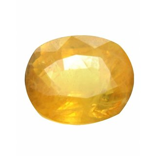 9.25 Ratti 100 best quality Peela Pukhraj Natural Yellow Sapphire by lab certified