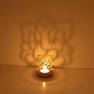 Ganesha Shadow Diya Tealight