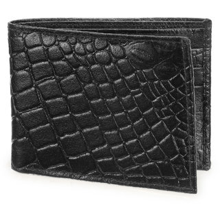Arum Stylish Black Square Leather Wallet ABMWD0011
