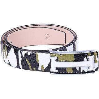 Black Buck Men, Boys Casual Multicolor Genuine Leather Belt  (Multicolor)