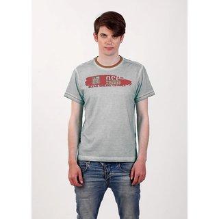 Smokestack Cotton Round Neck Half Sleeves Men's T-Shirt Brown