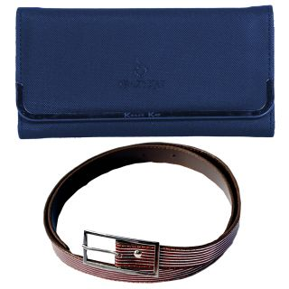 Kshipra Fashion Belt and Clutch Women's Combo