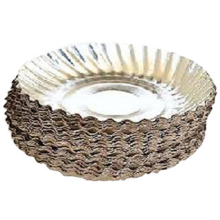 Ezee Silver Coated Paper Plate 6 Inches 50 Pieces