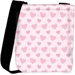 269dcd986ee5 Snoogg Lite Pink Heart Pattern Designer Womens Carry Around Cross Body Tote  Handbag Sling Bags RPC-10093-SLTOBAG