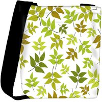 Snoogg Abstract Leaves White Pattern Designer Womens Carry Around Cross Body Tote Handbag Sling Bags RPC-10204-SLTOBAG
