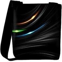 Snoogg Multicolor Light In Black Background Designer Womens Carry Around Cross Body Tote Handbag Sling Bags RPC-7557-SLTOBAG