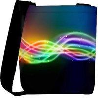 Snoogg Sparkling Rays In Dark Background Designer Womens Carry Around Cross Body Tote Handbag Sling Bags RPC-7561-SLTOBAG