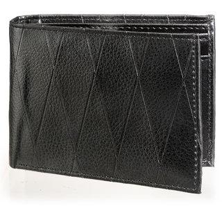Arum Black Leather Men Formal Wallet ABW-001