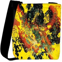 Snoogg Paint Splattered In Water Designer Womens Carry Around Cross Body Tote Handbag Sling Bags RPC-7164-SLTOBAG