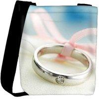 Snoogg Love Silver Ring Designer Protective Back Case Cover For Oneplus 3 Designer Womens Carry Around Cross Body Tote Handbag Sling Bags RPC-3642-SLTOBAG