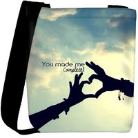 Snoogg You Made Me Complete Designer Protective Back Case Cover For Oneplus 3 Designer Womens Carry Around Cross Body Tote Handbag Sling Bags RPC-3655-SLTOBAG