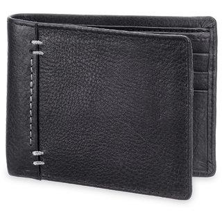 Arum Stylish Black  White Mark Leather Wallet ABMWD0015