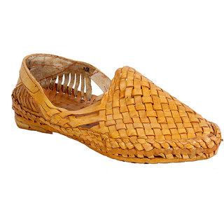 Routeen Men's Beige Ethnic Sandal