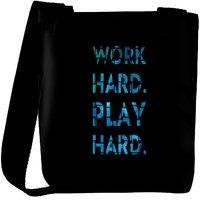 Snoogg Work Hard Play Hard Designer Protective Back Case Cover For Oneplus 3 Designer Womens Carry Around Cross Body Tote Handbag Sling Bags RPC-3700-SLTOBAG